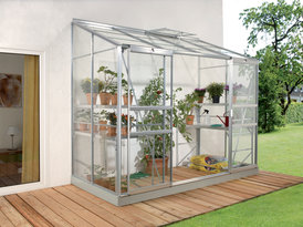 Lean to Greenhouse IDA 3300 (sticlă + aluminiu anodizat)